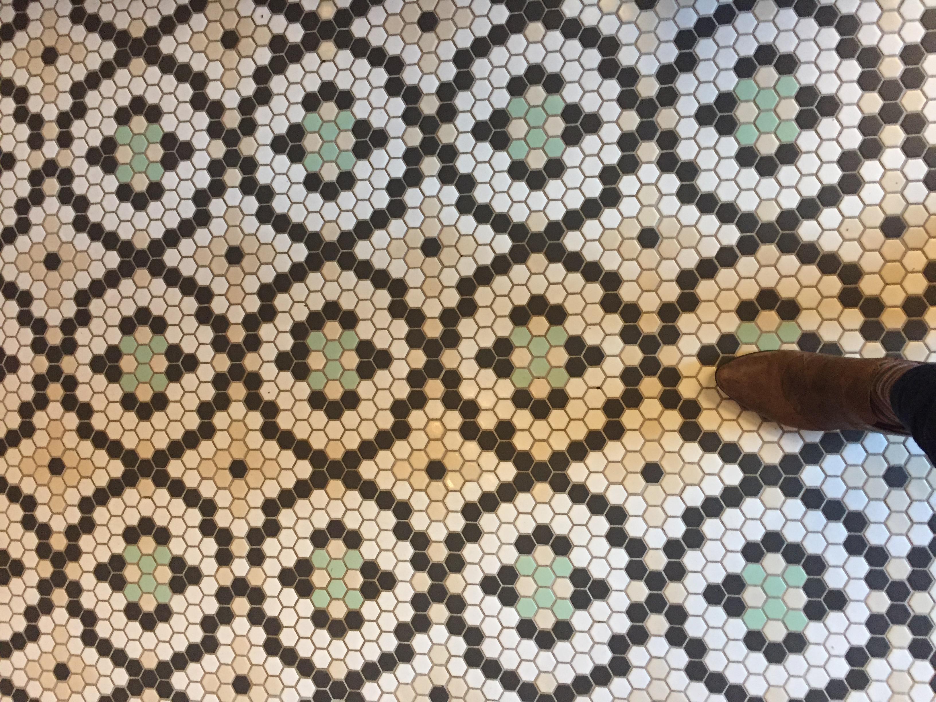 d02b871dcb The nifty floor in the lobby coffee bar